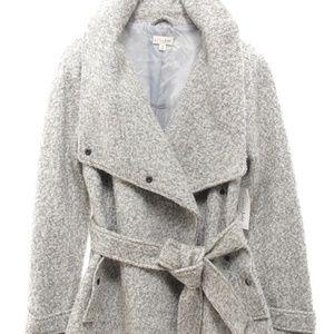 Maison Jules Belted Asymmetrical Coat